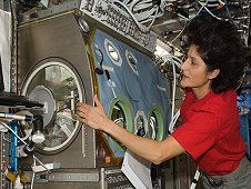 Expedition 32 Flight Engineer Sunita<br /> Williams works at the Microgravity<br /> Science Glovebox in the Destiny laboratory<br /> of the International Space Station, August<br /> 2012. (NASA)&nbsp;&nbsp; <br /> <a href='http://www.nasa.gov/images/content/715976main_image4a_XL.jpg' class='bbc_url' title='External link' rel='nofollow external'>View large image</a>