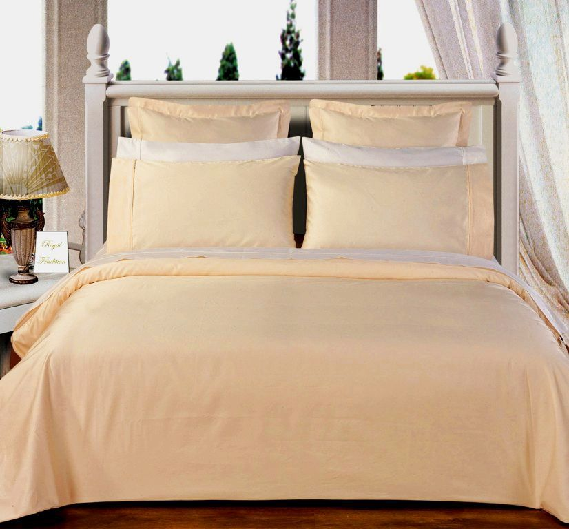 Scotts-sales California-King 8PC Solid Ivory 550TC Egyptian cotton bed in a Bag