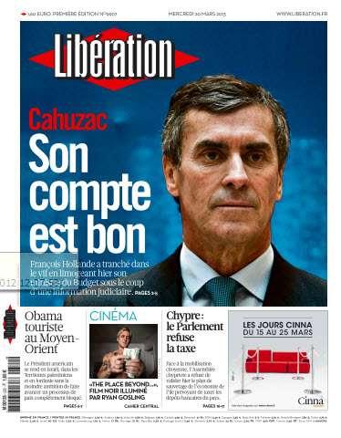 Libération Mercredi 20 Mars 2013
